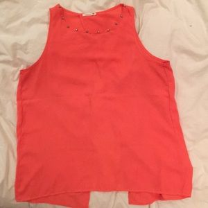 Summer coral tank with open back